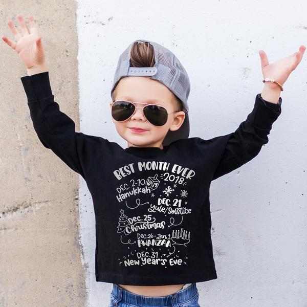 Multi-denominational kids' holiday tees with positive messages, for a happy everything! | Free to Be Kids