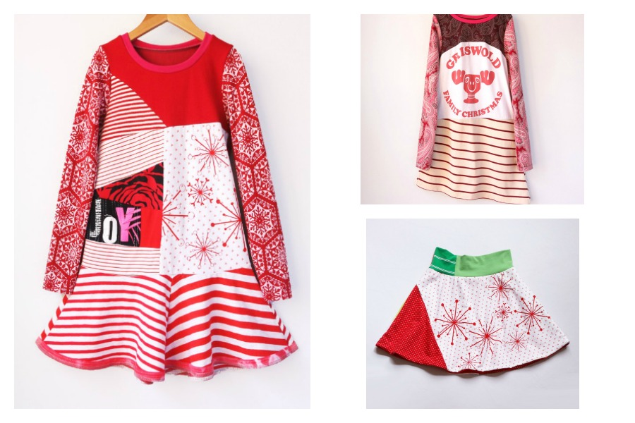 These funky handmade holiday dresses are perfect for girls who say no to frills and flounce