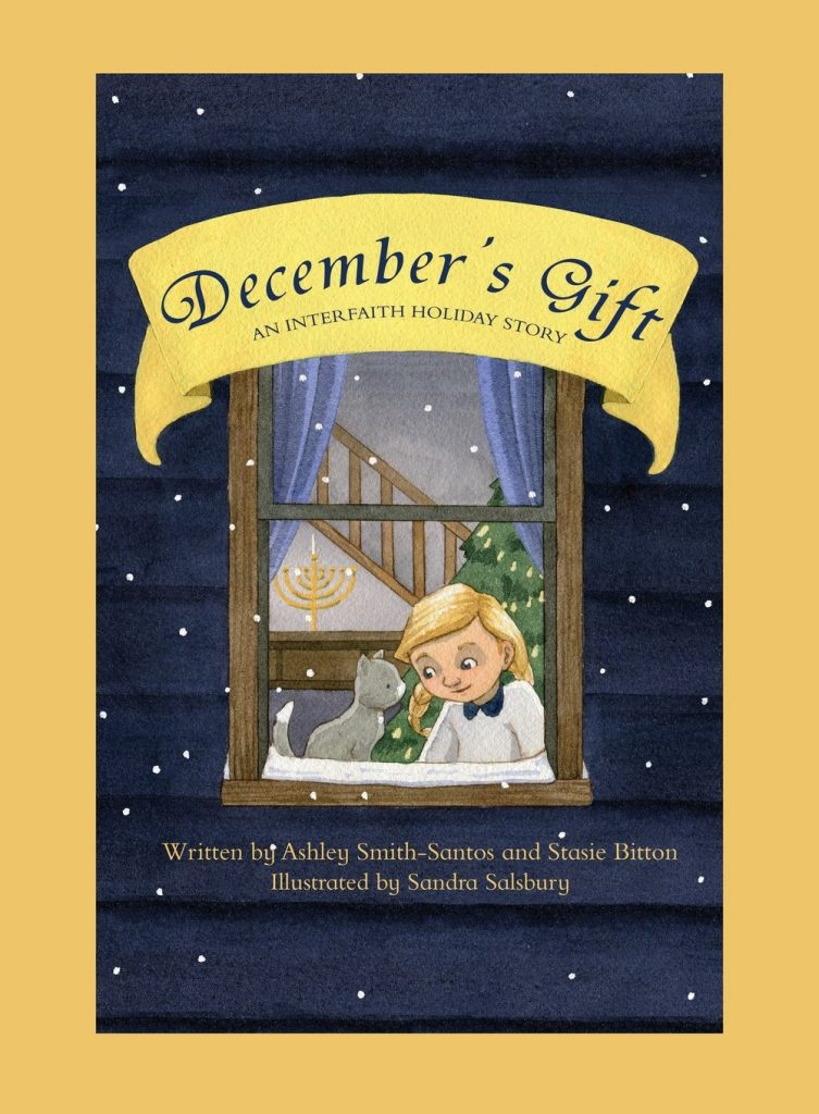 Books for kids who celebrate Christmas and Hanukkah: December's Gift by A. Smith-Santos and S. Bitton