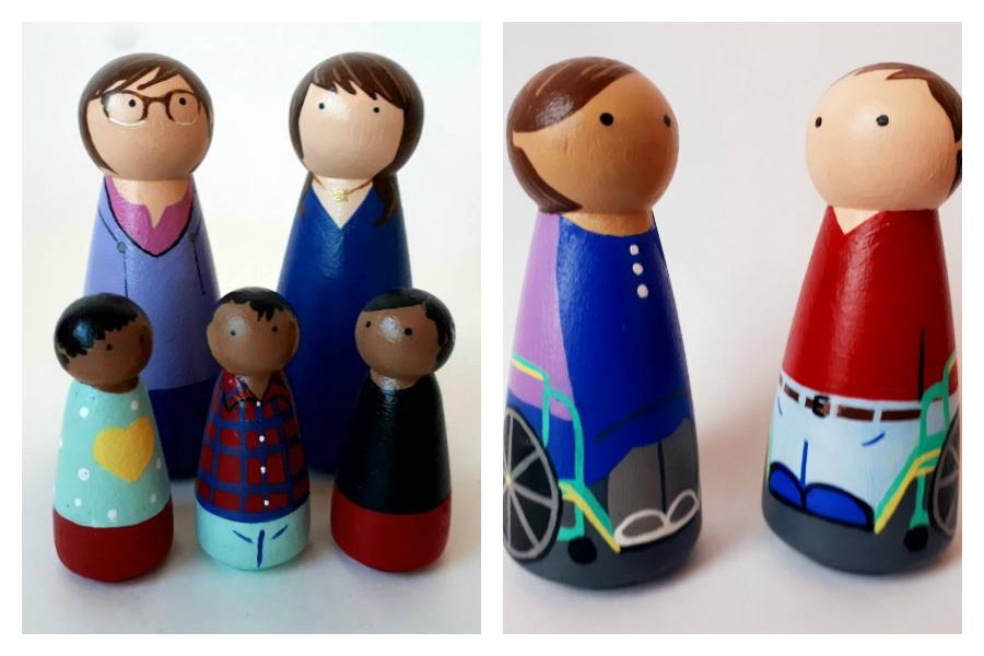 Diverse dollhouse dolls | Little Forest Kids