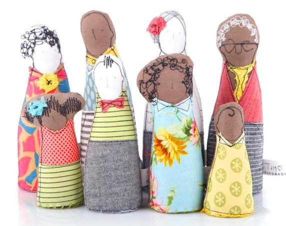 Diverse Dollhouse Dolls | Timo Handmade
