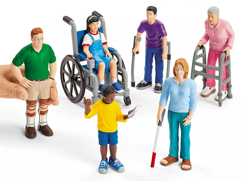 Diverse dollhouse dolls | Differently abled dolls by Lakeshore Learning