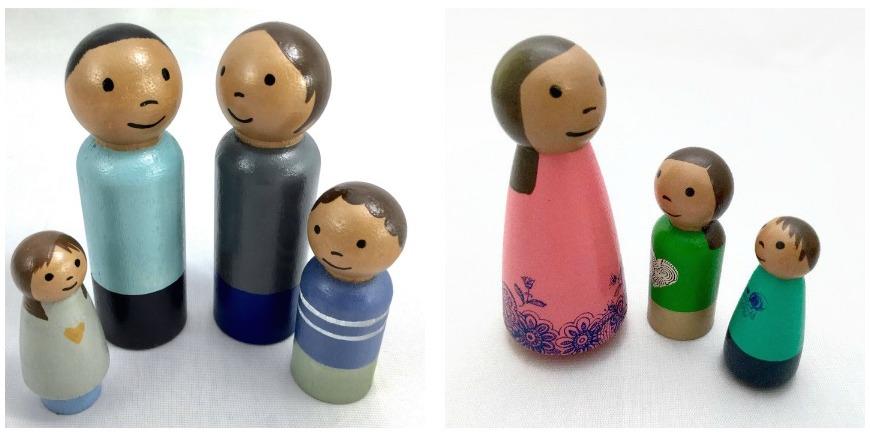 Diverse dollhouse dolls | Scribble Bot Studio