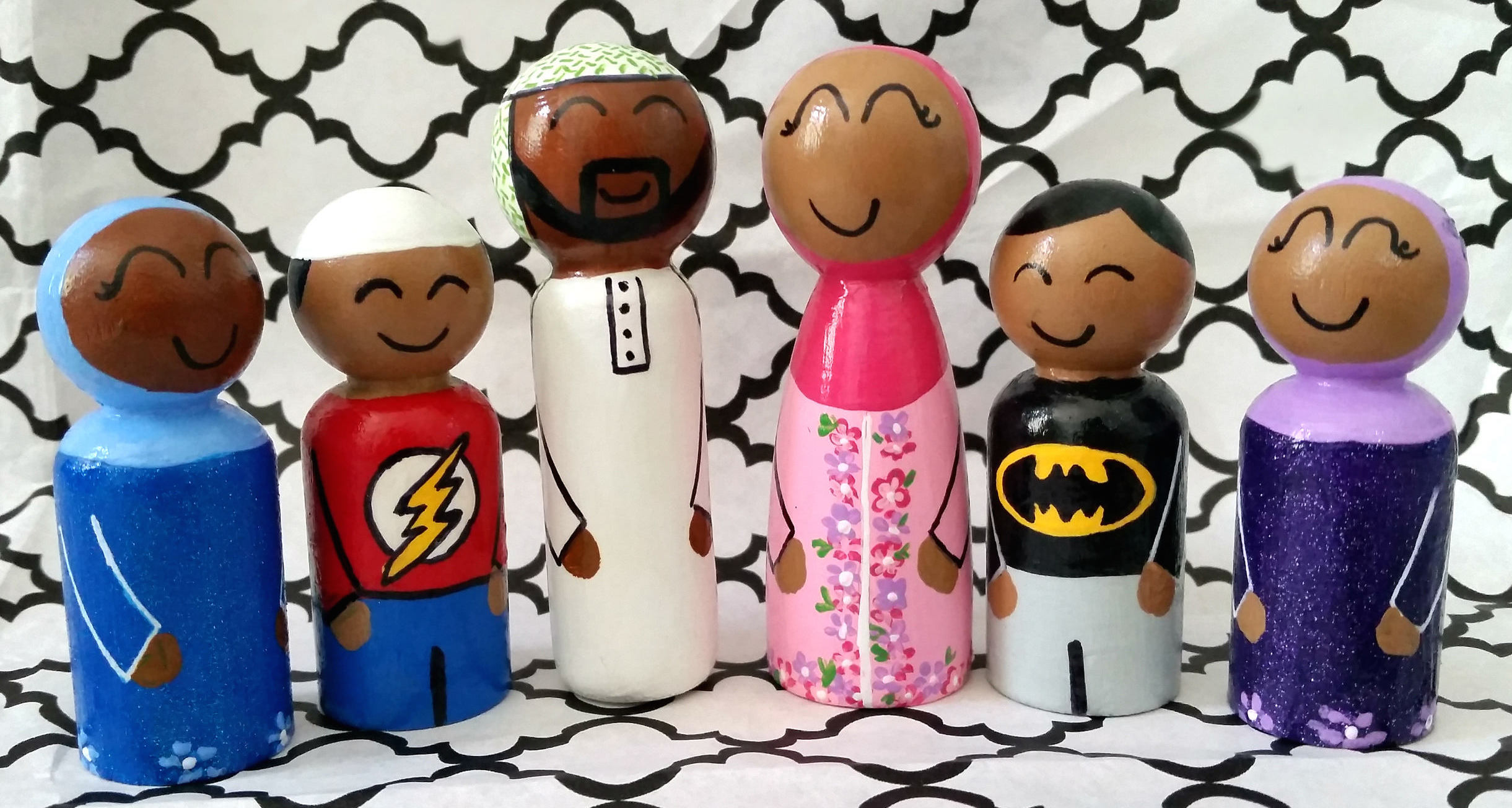 Diverse dollhouse dolls | Little Muslim Dolls