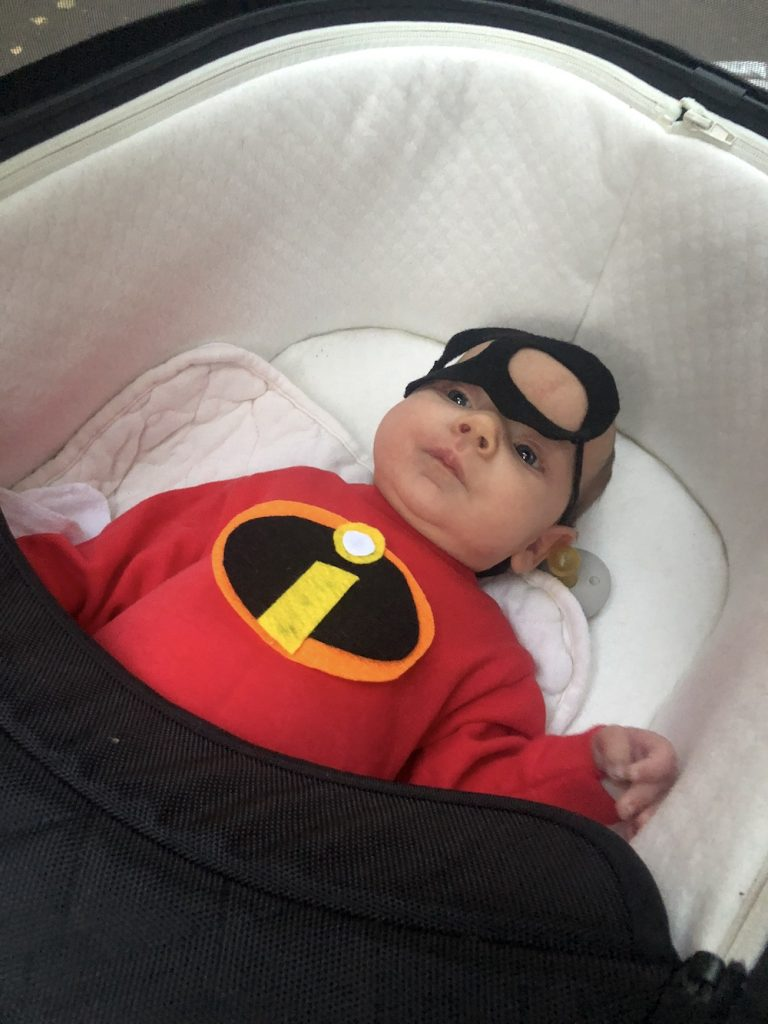 Best Garden Place, Brooklyn Halloween costumes 2018: Baby Incredible! | © Cool Mom Picks