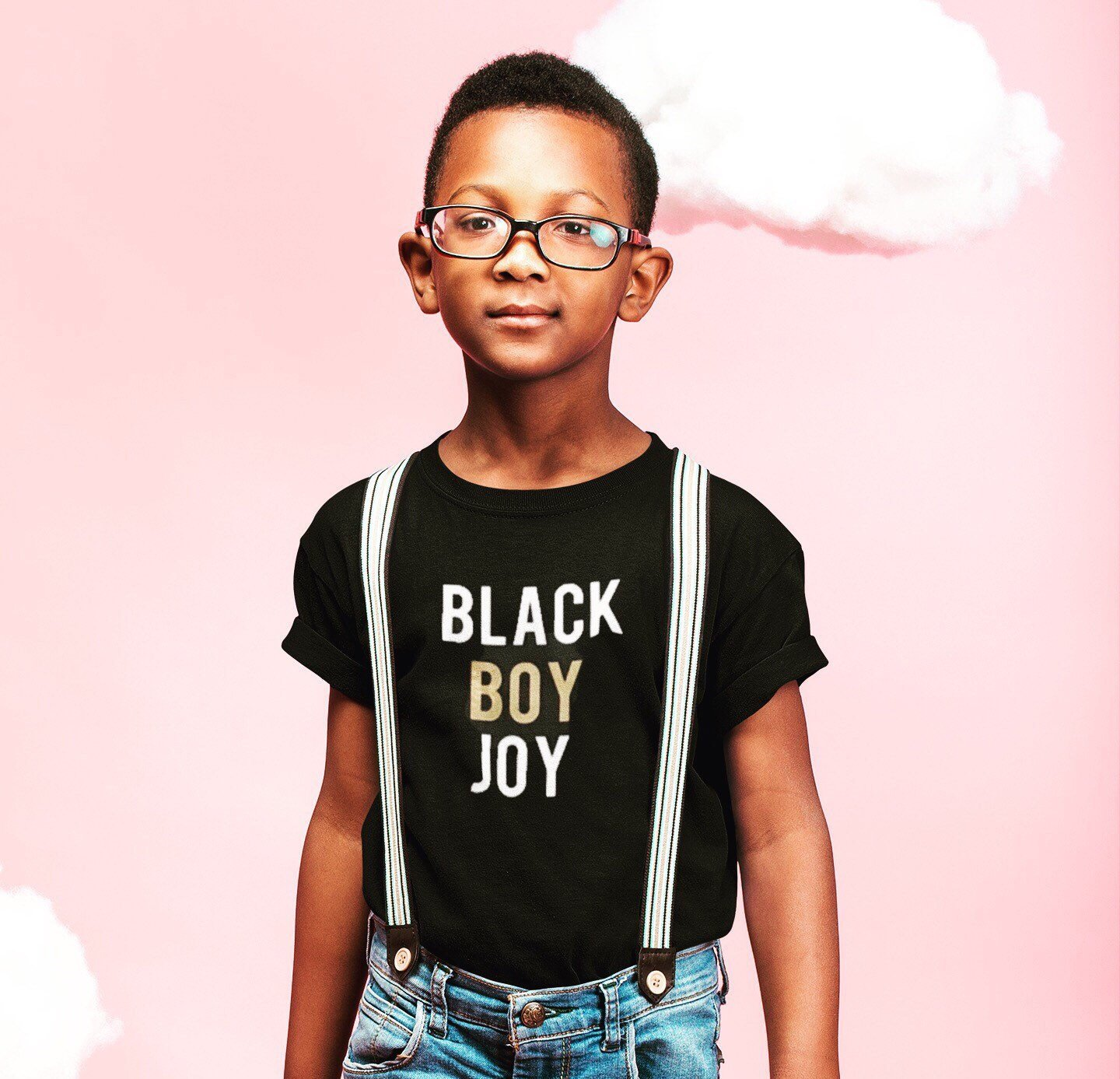 Meaningful gifts for kids: Black Boy Joy shirt or daddy and me set