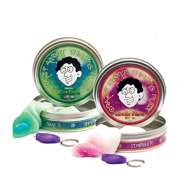 Cool gifts for tween boys (and girls): Black light thinking putty
