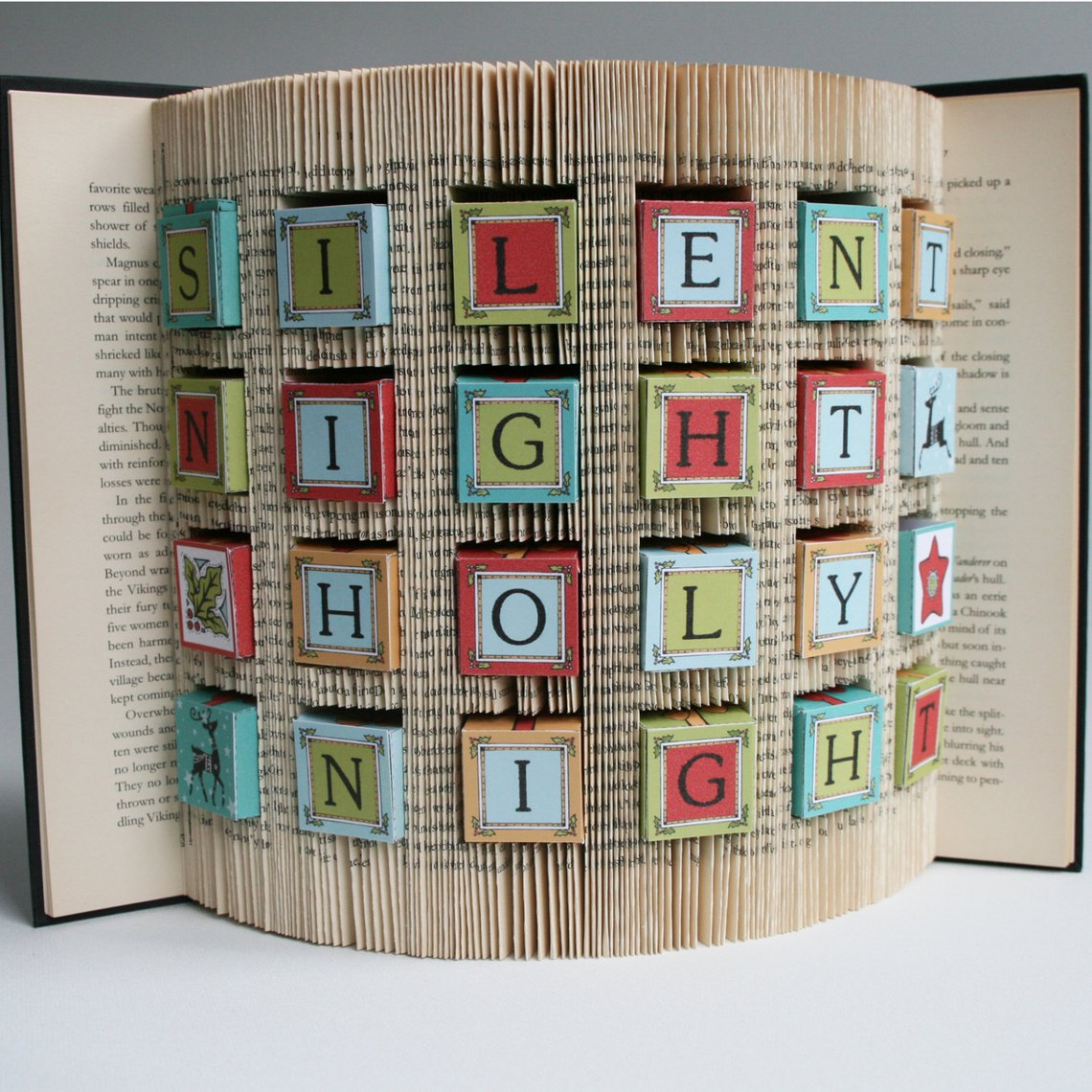 Creative Advent calendars for kids: DIY Book art Advent calendar tutorial | Love Book Folding