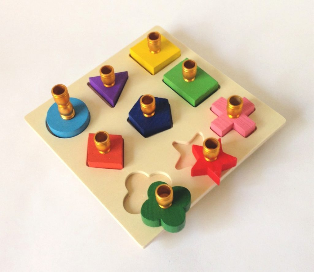 Child's Menorah Puzzle Toy: Cool hanukkah gifts | handmade by Margaret's Menorahs on Etsy