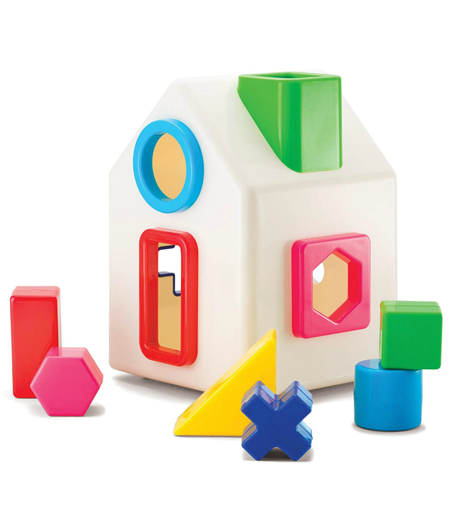 Shape-sorting house by Kid O | The Coolest First Birthday Gifts