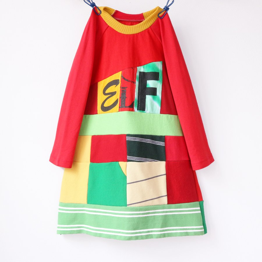 non-traditional holiday dresses from Courtney Courtney: Handmade elf workshop dress