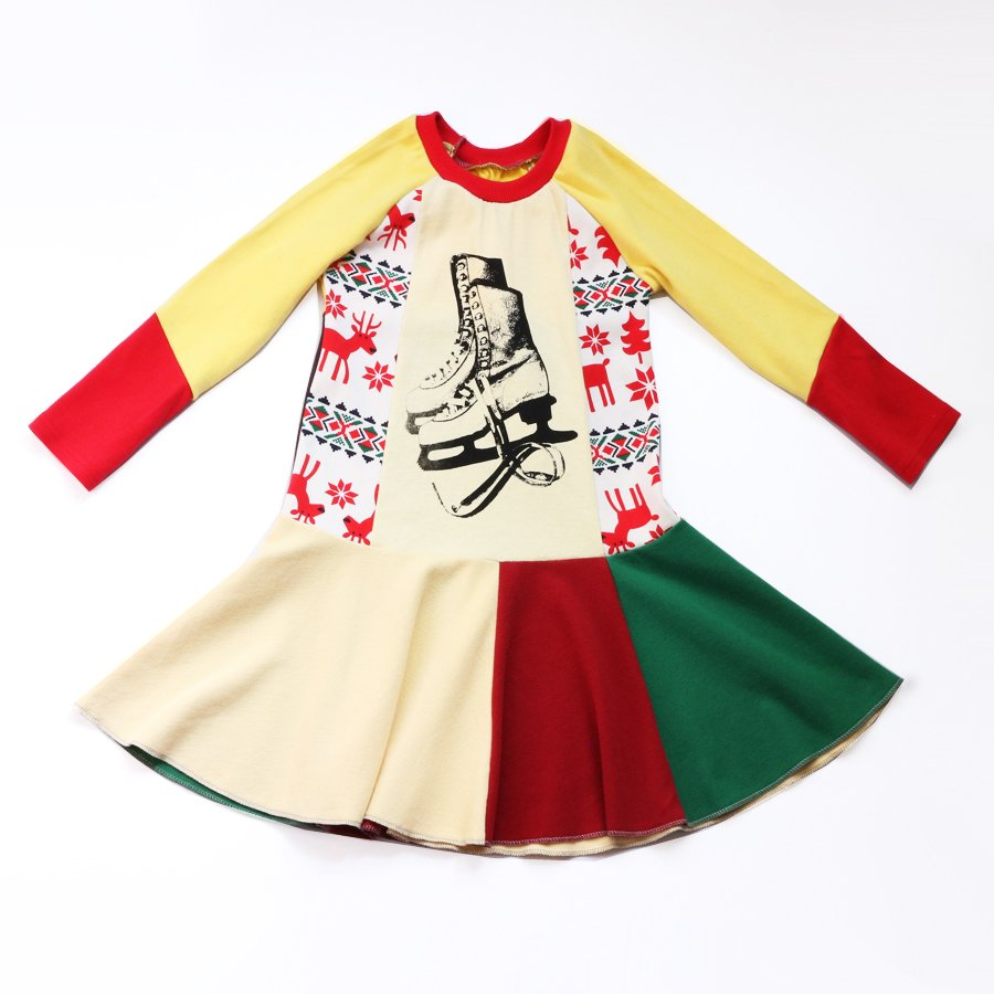 non-traditional holiday dresses from Courtney Courtney: Handmade vintage ice skate dress