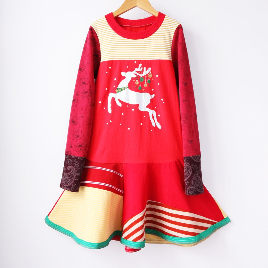 non-traditional holiday dresses from Courtney Courtney: Handmade reindeer dress