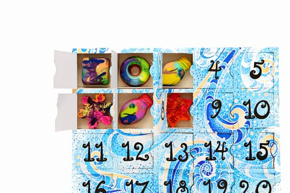 Creative advent calendars for kids: Crayon advent calendar | Art to the Extreme