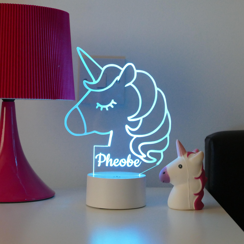 Creative personalized gifts: Custom name unicorn nightlight