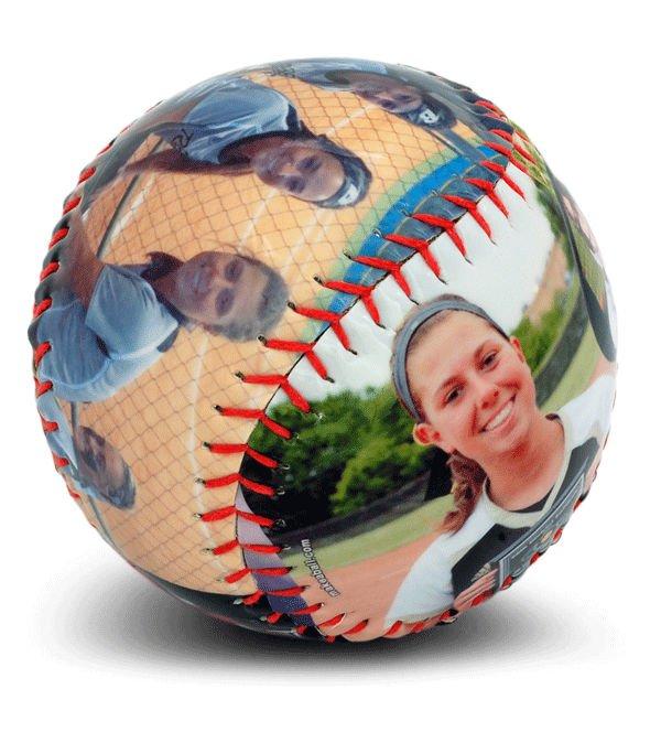 Creative personalized gifts: Custom photo baseball or softball