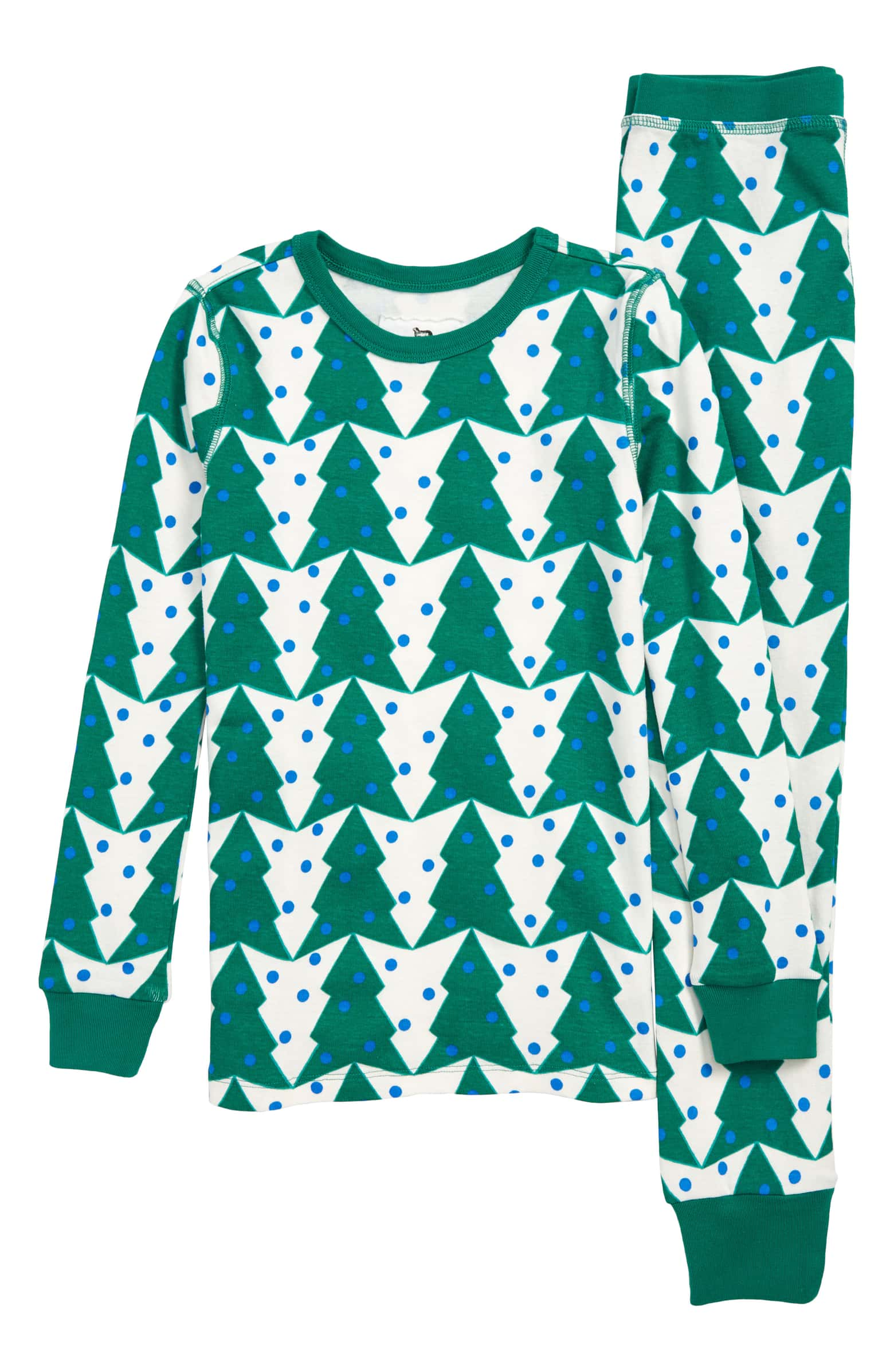 Modern Christmas pajamas for kids: Crewcuts Christmas tree pajamas | J. Crew