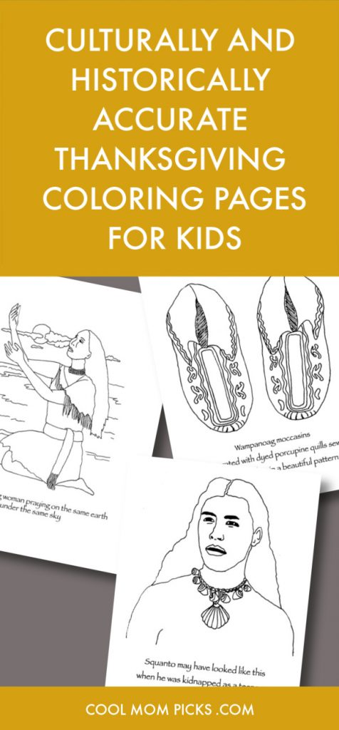 A collection of culturally and historically accurate Thanksgiving coloring pages for kids | Cool Mom Picks