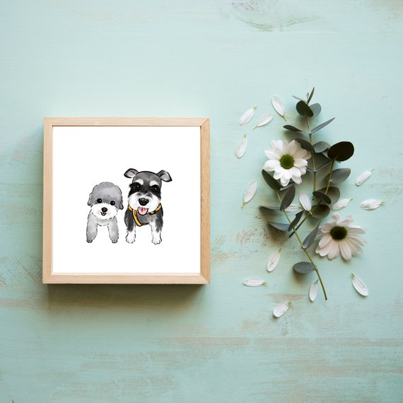 Cool affordable gifts under $15: Custom pet portrait