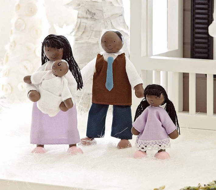 Cool kids' gifts under $15: Dollhouse family from Pottery Barn Kids