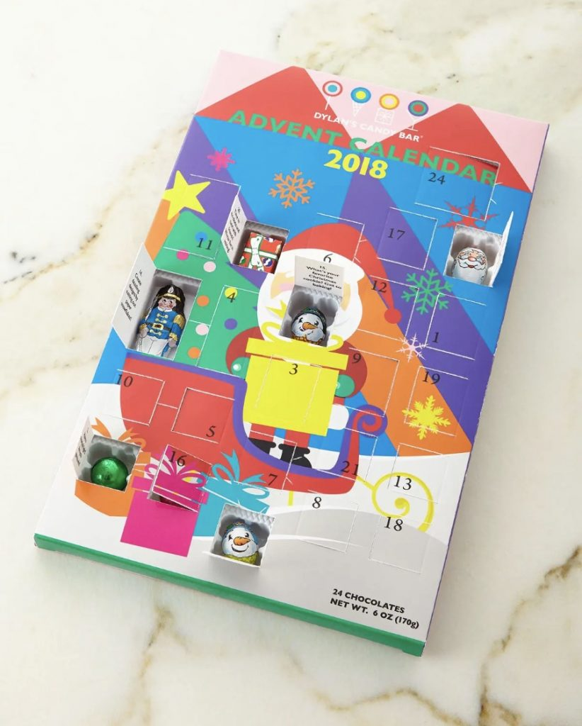 Dylan's Candy Bar modern chocolate Advent calendar for kids, new for 2018