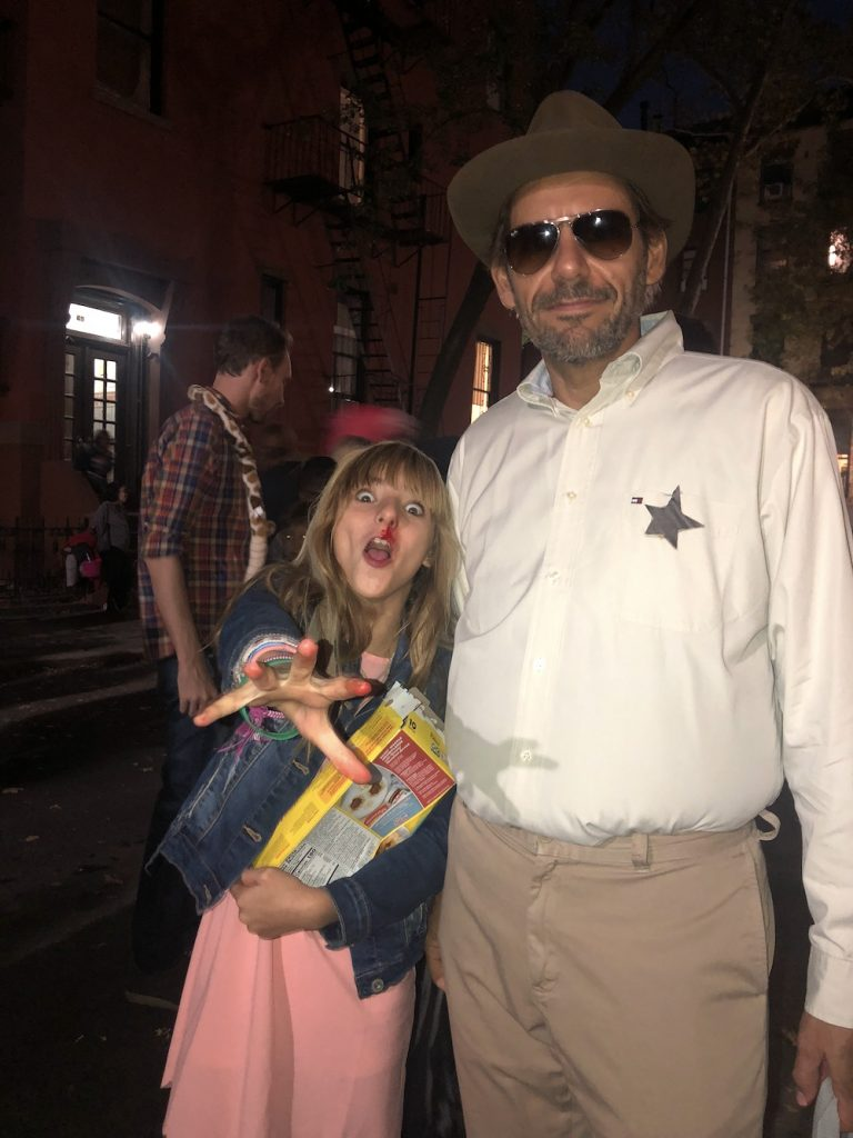 Best Garden Place, Brooklyn Halloween costumes 2018: Eleven and Sheriff Hopper from Stranger Things | © Cool Mom Picks