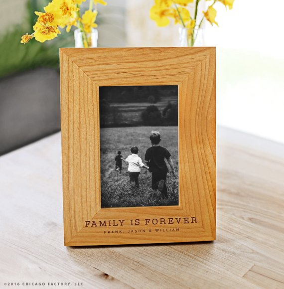 Special grandparent gift ideas: A family is forever engraved frame