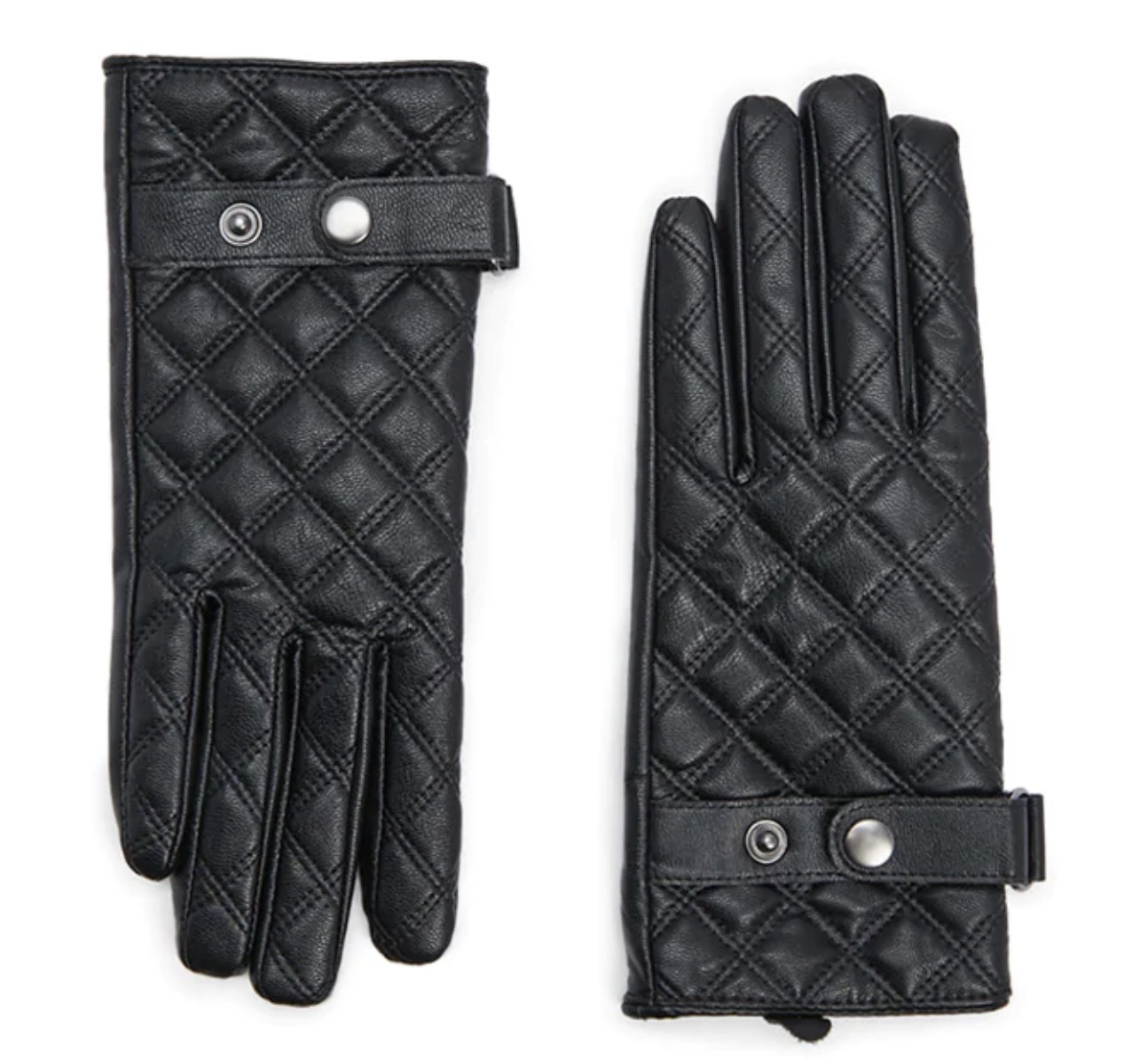 Quilted faux leather gloves at H&M: Cool gifts under $15