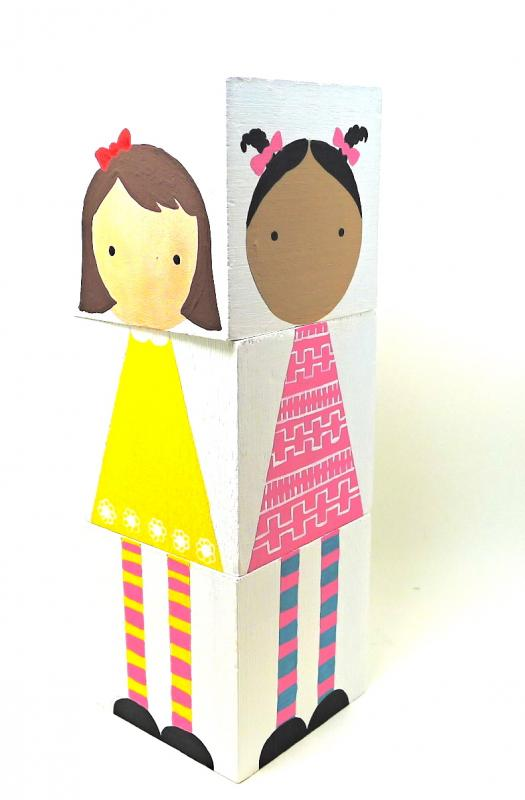 Handmade toys for kids: Mix and match doll block sets
