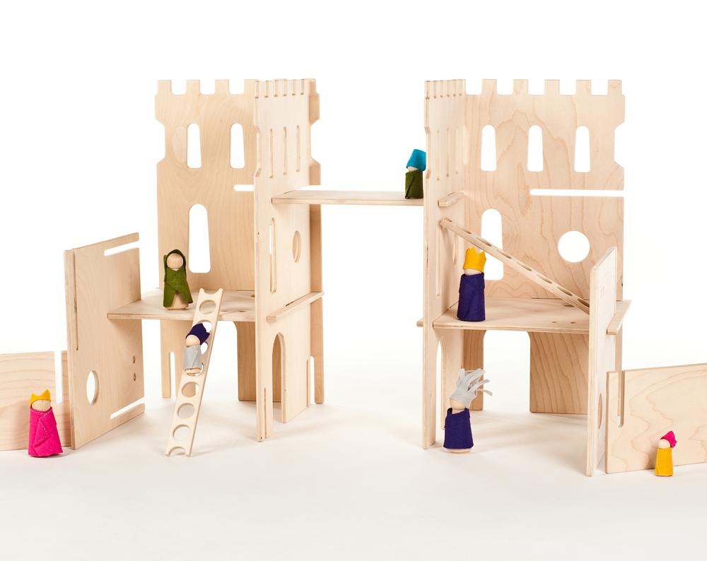 Handmade toys for kids: Play castles from Manzanitas Kids