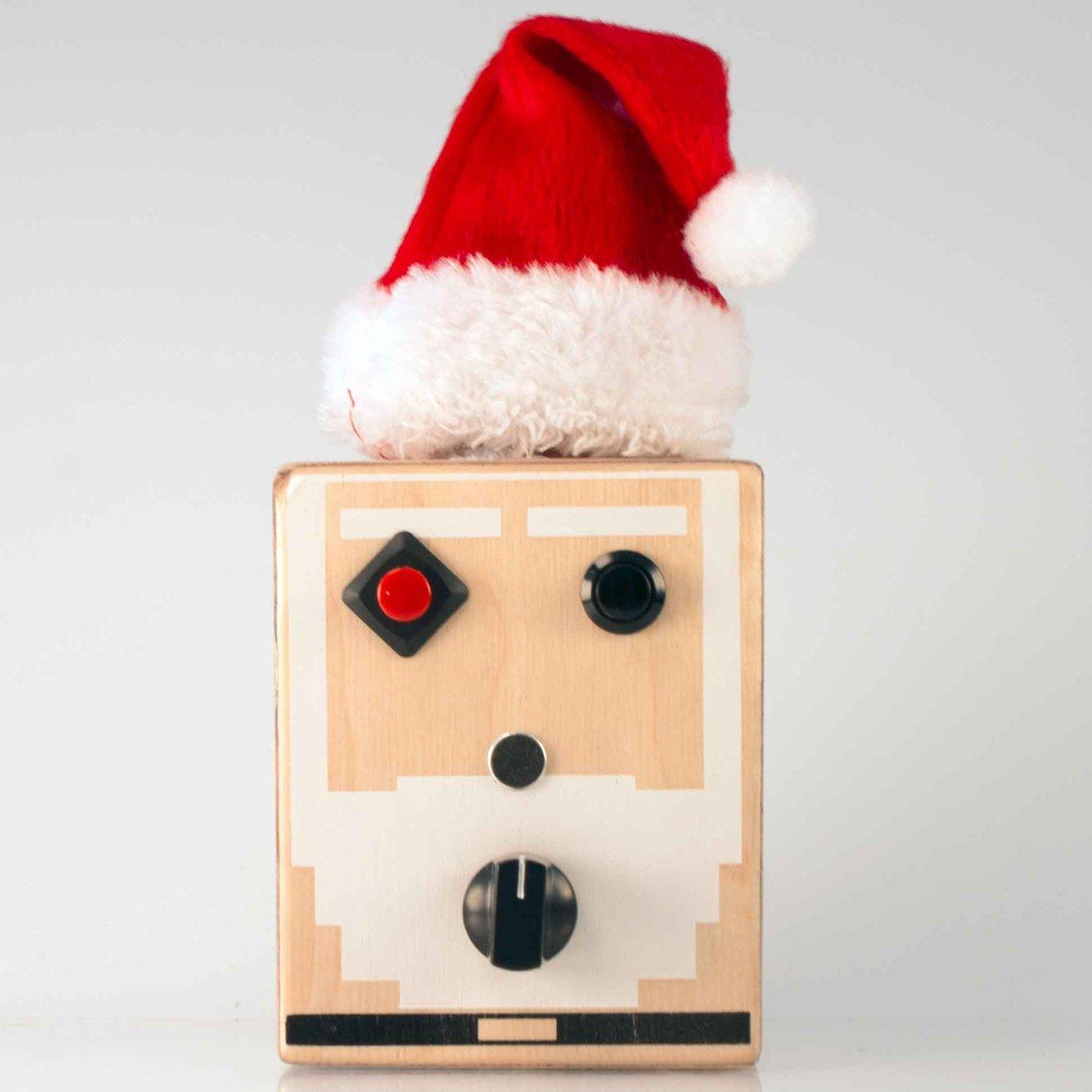 Handmade toys for kids: 8-bit Santa handmade wooden sound machine by Brand New Noise