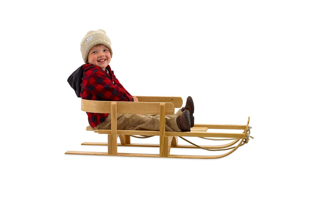 Handmade toys for kids: : Traditional child's pull sled from Northern Toboggan Co