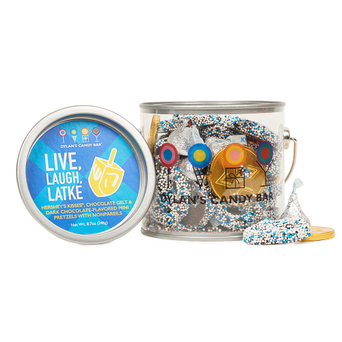 Cool Hanukkah gifts for kids: Hanukkah treats paint can from Dylan's