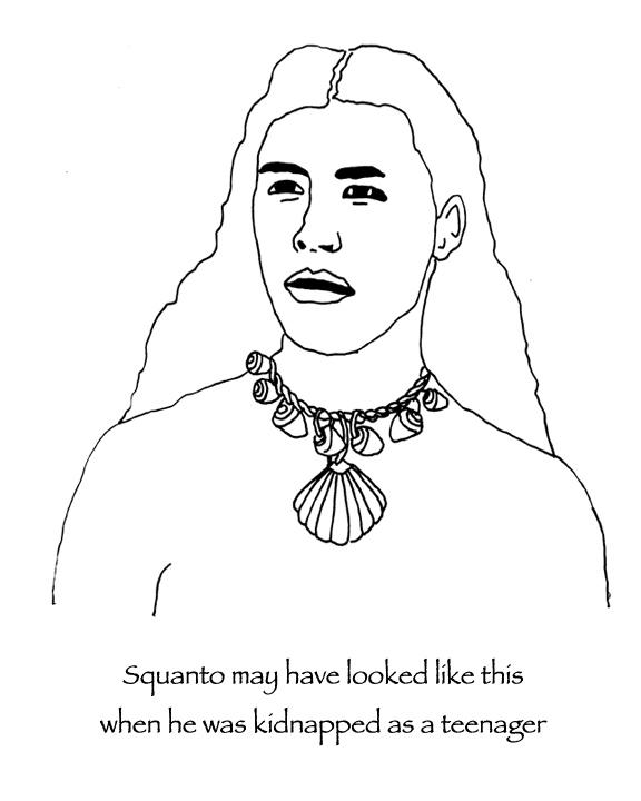 Historically accurate Thanksgiving coloring pages: The real story of Squanto