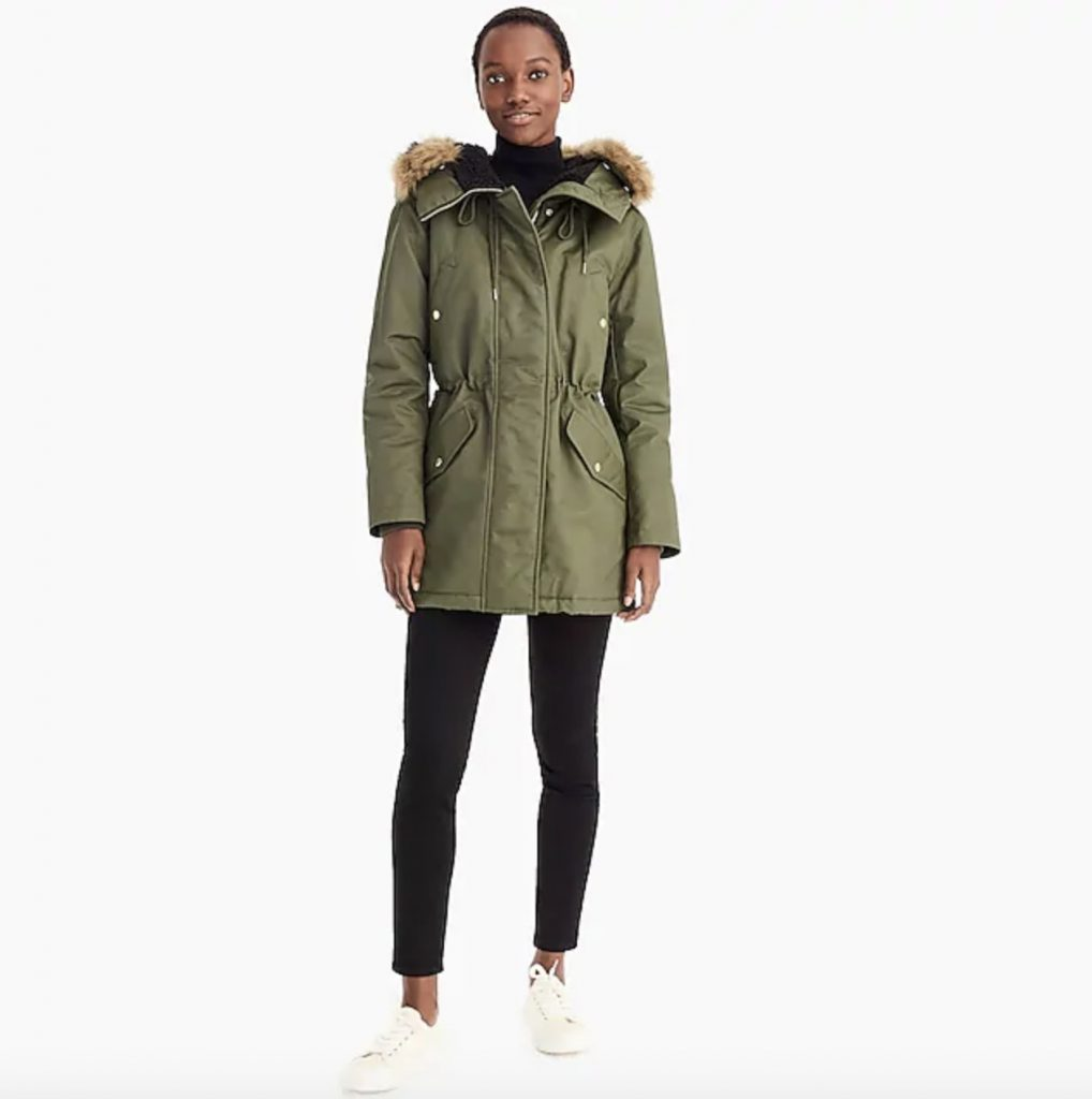 JCrew women's parkas on sale at great prices