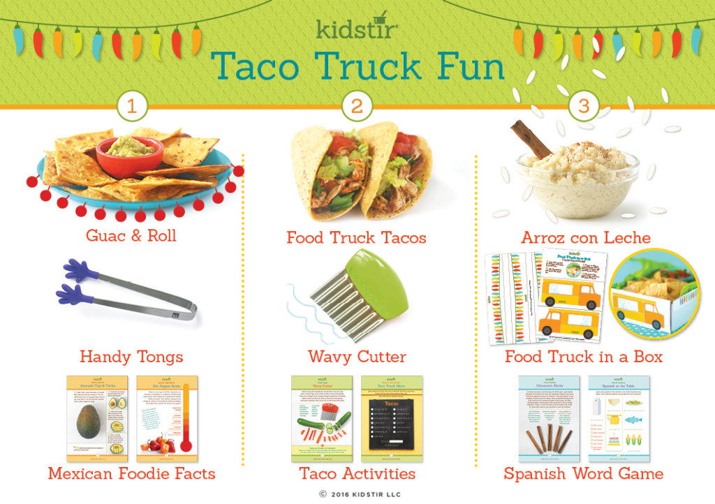 Cool gifts for tween boys (and girls): Kidstirr Taco Truck special edition cooking kit