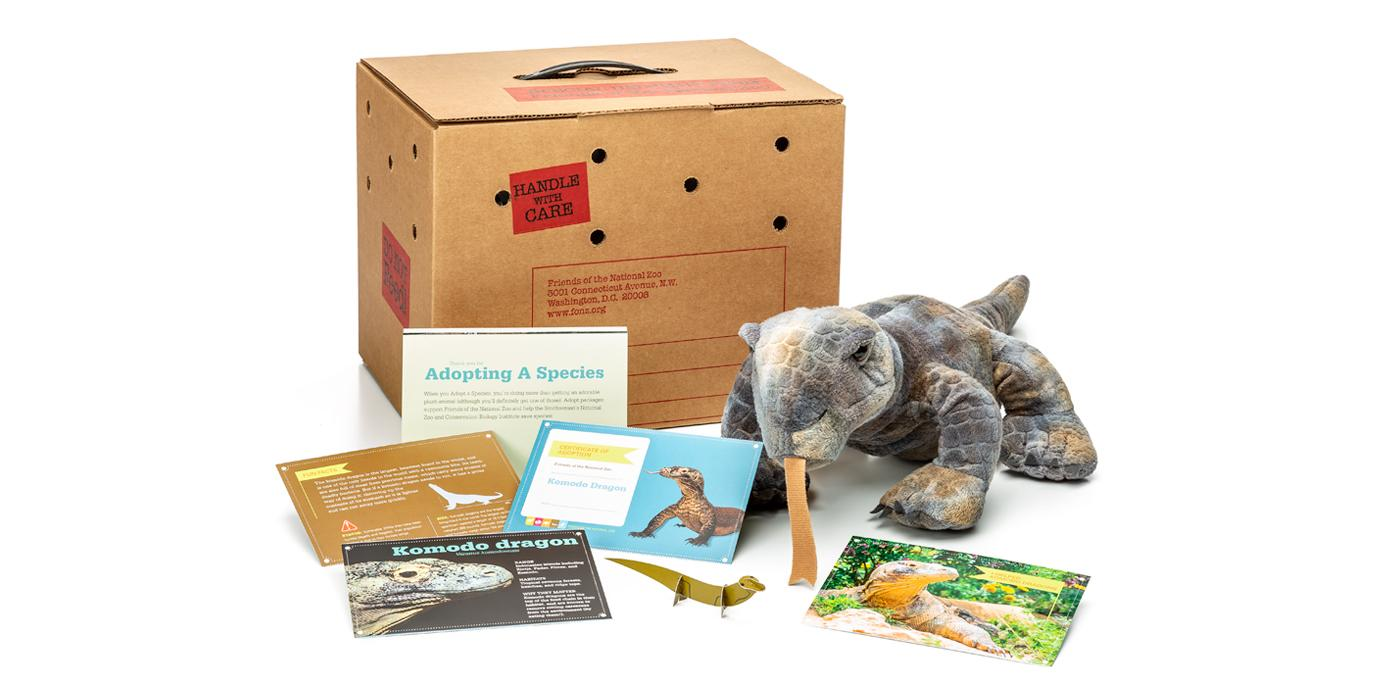 Cool gifts for tween boys (and girls): Komodo dragon adopt-a-species package supporting the National Zoo