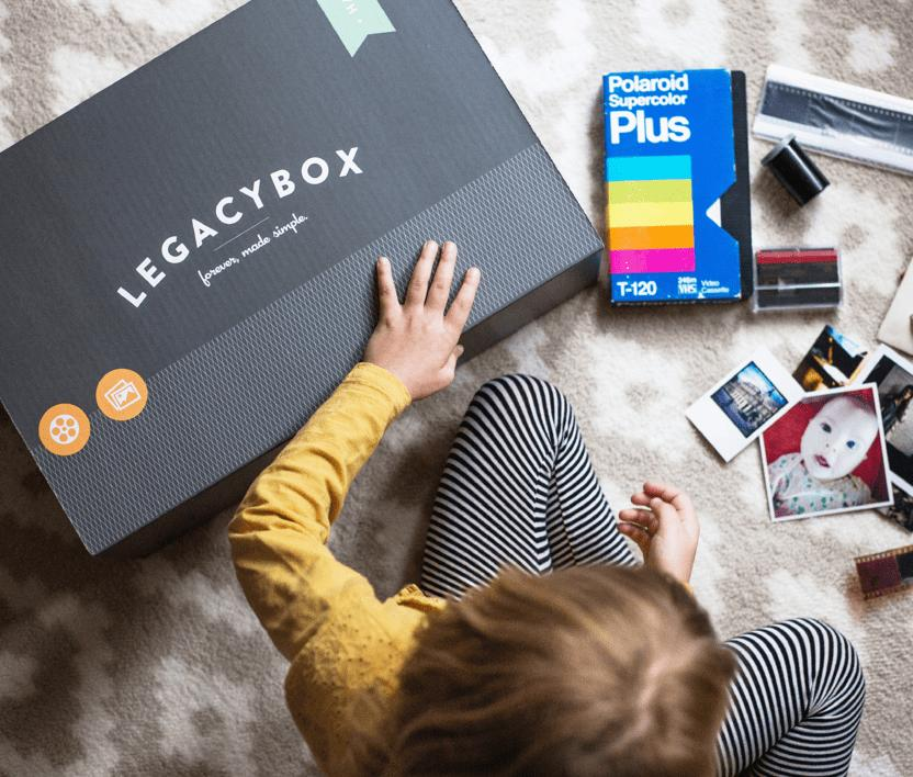 Special grandparent gift ideas for the holidays: Legacy box preserves all your family media and digitizes it