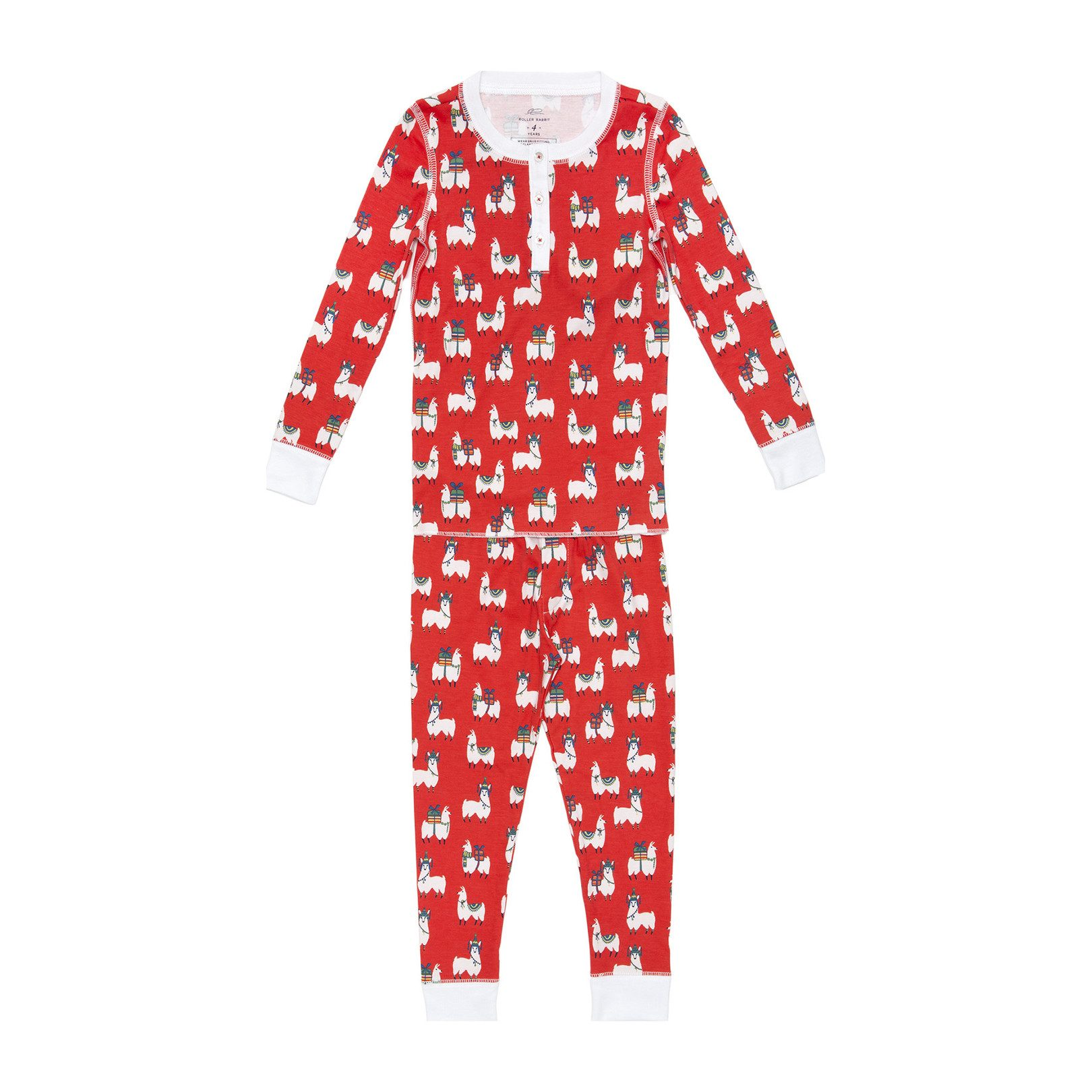 Modern Christmas pajamas for kids: Fa-La-La Llama Christmas pajamas | Maisonette