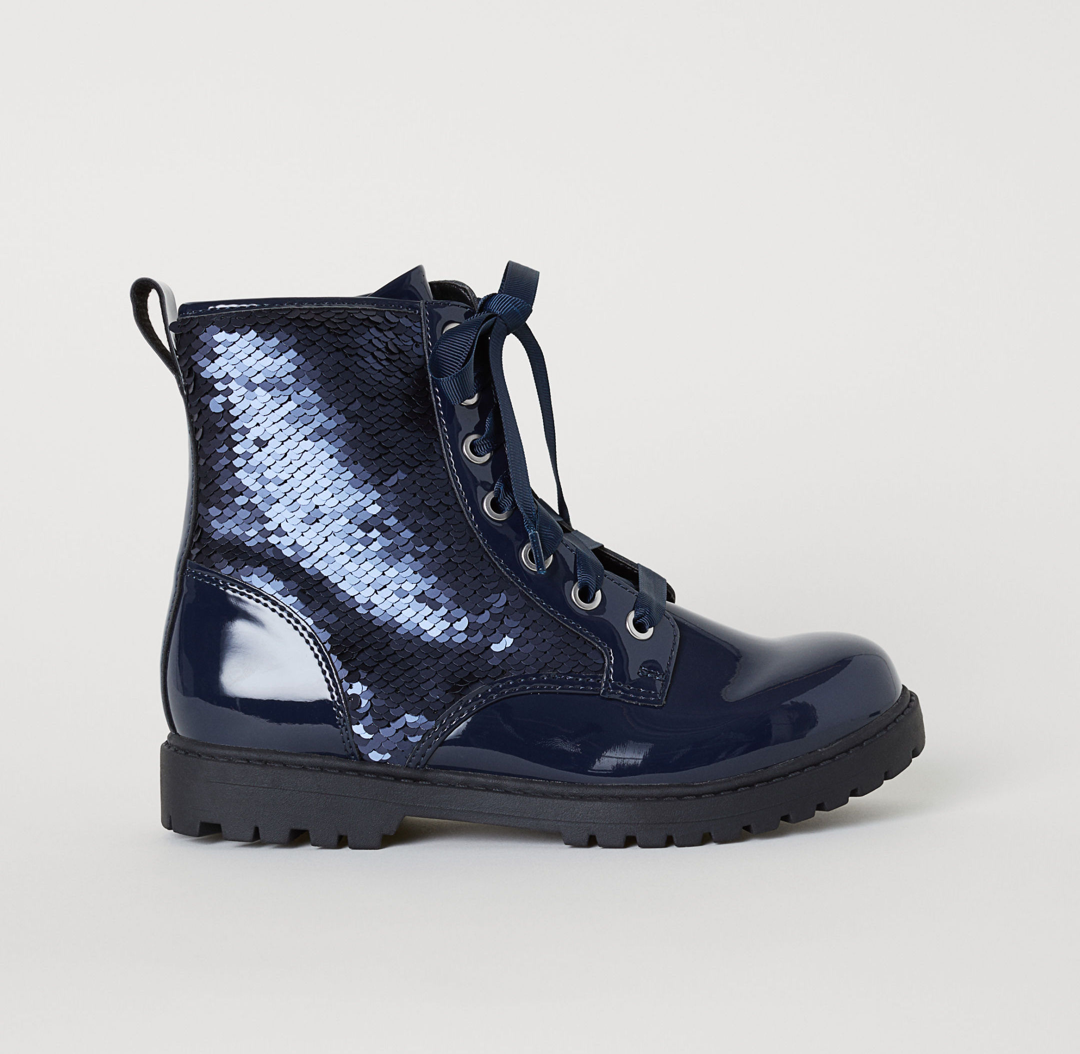 Cool gifts for tweens: Navy sequin boots from H&M