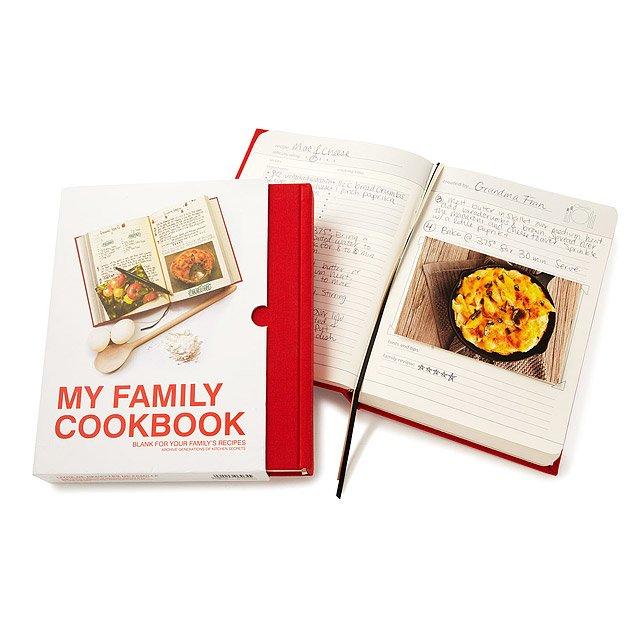 Special grandparent gift ideas: Personalized my Family Cookbook