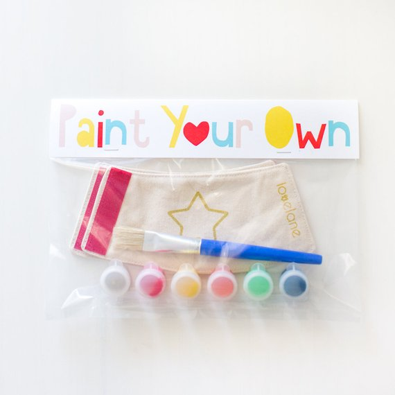 Handmade toys for kids: Paint your own superhero cuff craft set