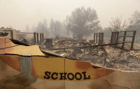 GoFundMe campaign to support the Paradise Elementary School destroyed by the Camp Fire in northern California