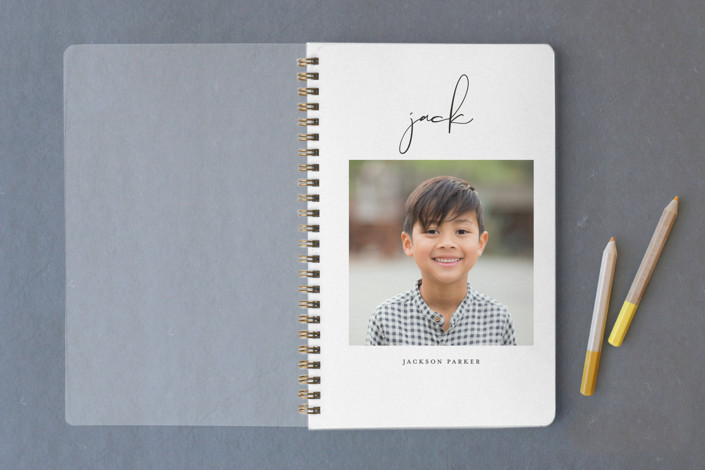 Kids gifts under $15: personalized photo notebook from Minted