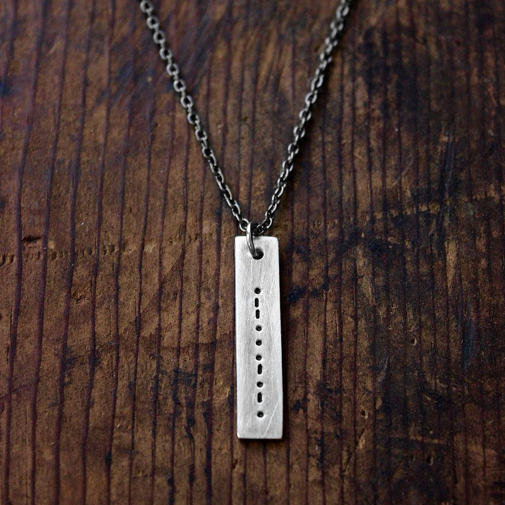 Creative personalized gifts: Custom secret message morse code necklace