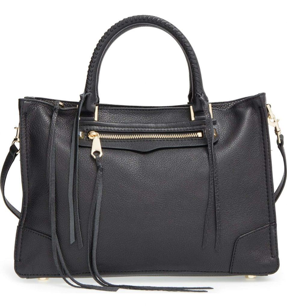 Rebecca Minkoff black leather satchel on sale at Nordstrom
