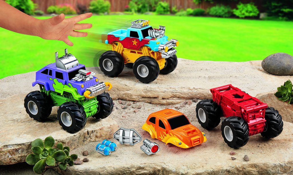 Snap & Design Monster Trucks from Lakeshore Learning (sponsored): Top learning toys for kids for the holidays