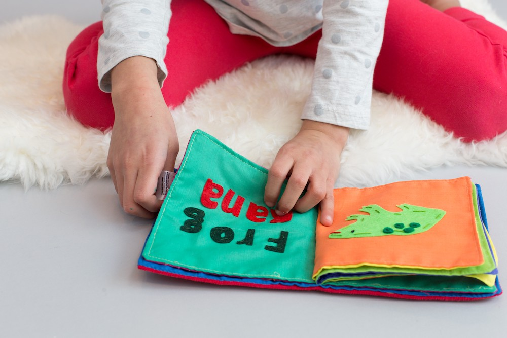 Meaningful gifts for kids: Spanish-English handmade soft book from To the Market