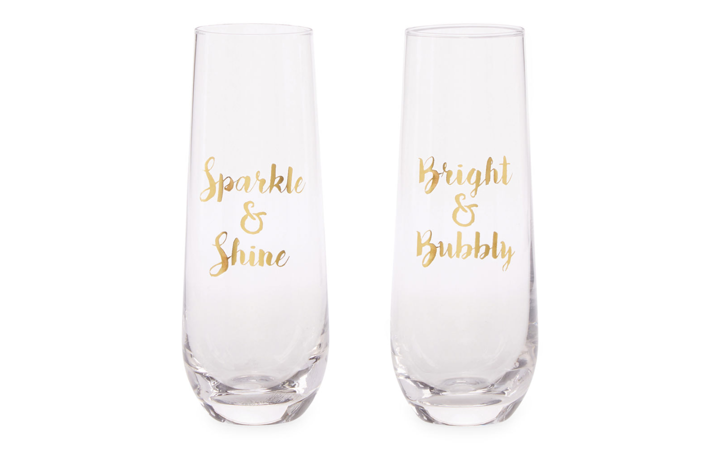 Cool affordable gifts under $15: Sparkle Champagne flute set of two