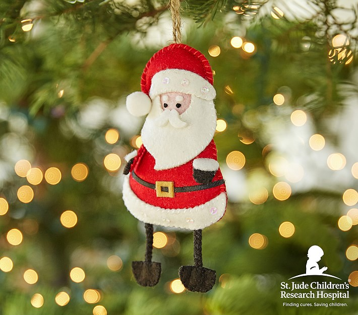 Meaningful gifts for kids: Santa Ornament supporting St. Jude's Children's Hospital